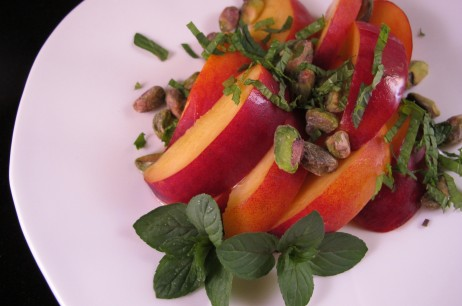 IMG 2806 1929793 462x306 Nectarine Salad with Chocolate Mint